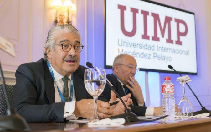 José Bogas, consejero delegado de ENDESA ,durante su intervención en...