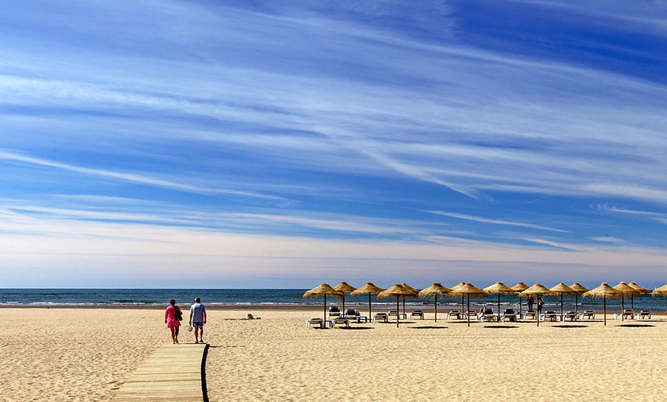 Playa de Isla Canela, en la costa de Huelva, una de las zonas que han...