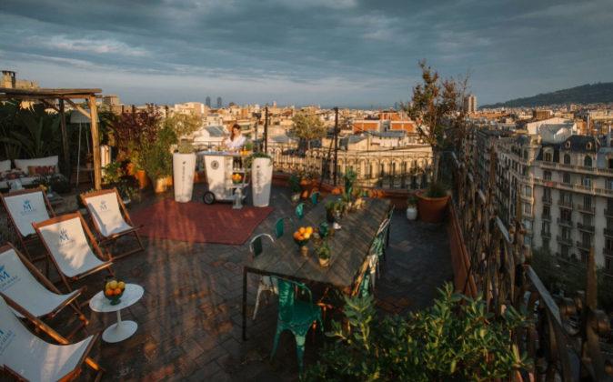 La terraza en Barcelona se inspirará en el Bodrum turco.