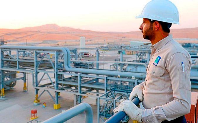 planta de Aramco, el mayor productor mundial de crudo, en Arabia...