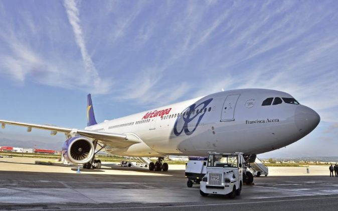 Airbus 330-300 de Air Europa que el Grupo Globalia ha incorporado a su...