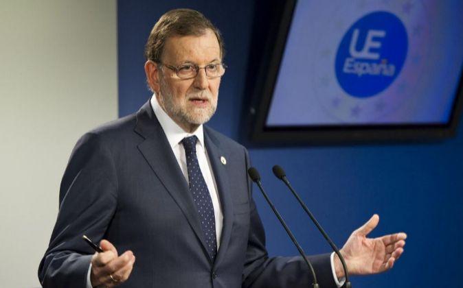 El presidente del Gobierno, Mariano Rajoy, tars la reunión del...