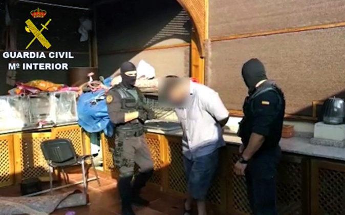 Imagen de Televisión facilitada por la Guardia Civil del momento de...