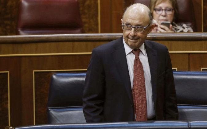 El ministro de Hacienda, Cristóbal Montoro, el pasado 22 de junio en...