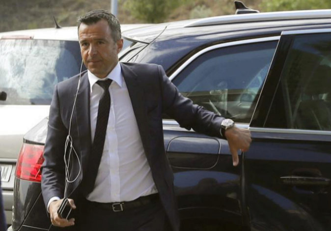 El agente de futbolistas Jorge Mendes a su llegada este martes al...