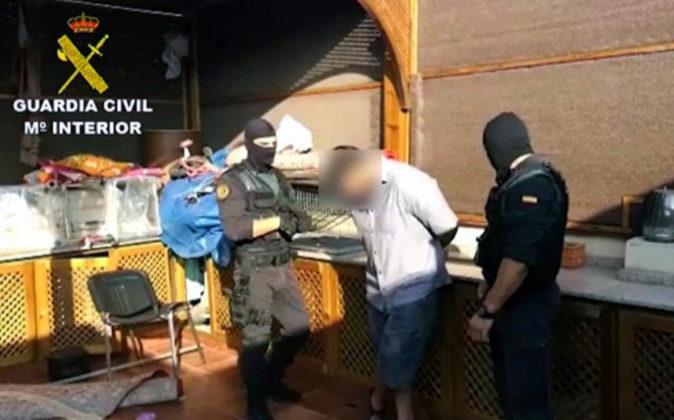 Imagen de Televisión facilitada por la Guardia Civil durante la...