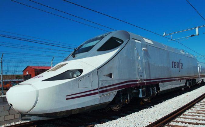 Imagen de un tren AVE