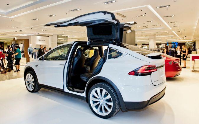 Tienda 'pop up' de Tesla.