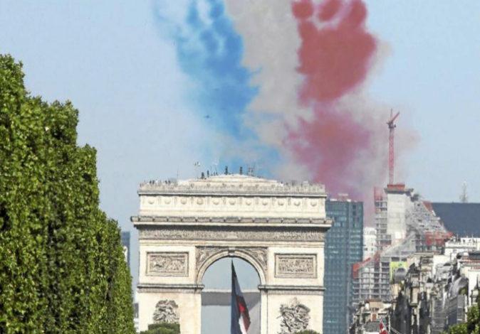 Imagen de archivo de un desfile del 14 de julio en París.