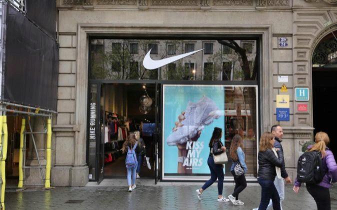 Tienda Nike en paseo de Gracia (Barcelona).