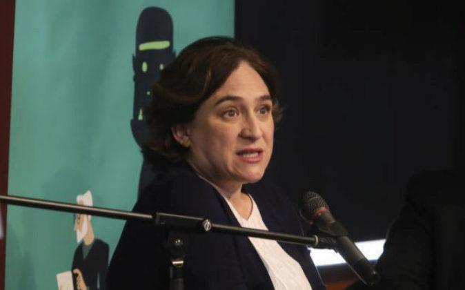 La alcaldes de Barcelona, Ada Colau.