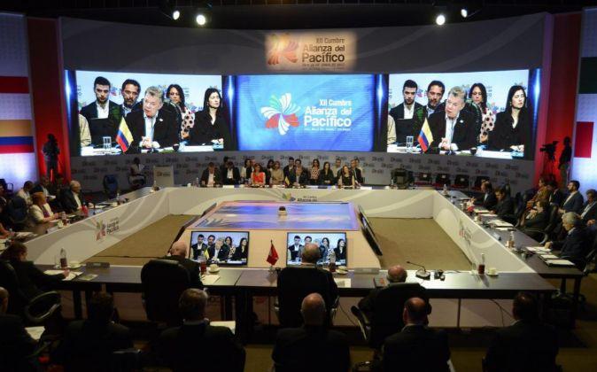 Vista general de la instalación de la XII Cumbre Alianza del...