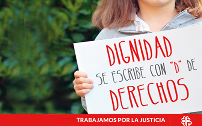 En las últimas campañas de Cáritas se apela por la justicia cuando...