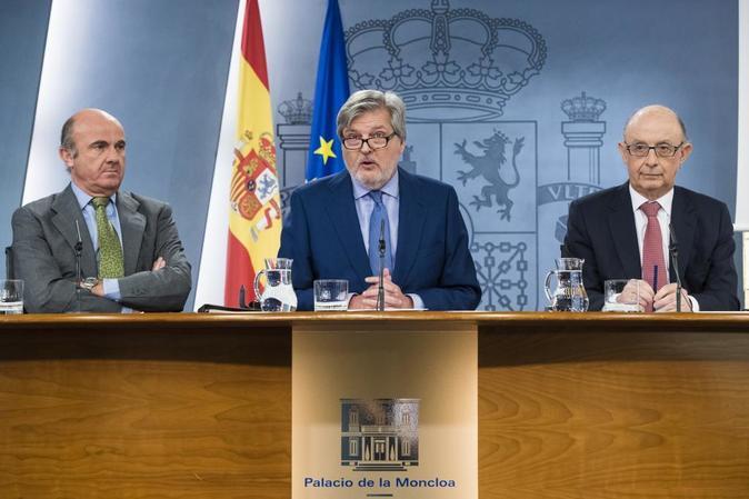 Rueda de prensa tras el consejo extraordinario de Ministros.