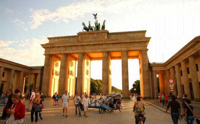 Imagen de la puerta de Brandeburgo en Berlín.