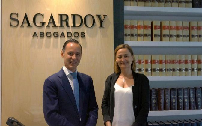 Íñigo Sagardoy, presidente de Sagardoy Abogados, y María Luz...