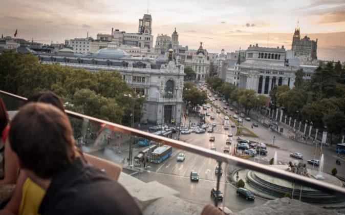 Terraza Cibeles en Madrid en la sexta planta del Palacio de Correos.