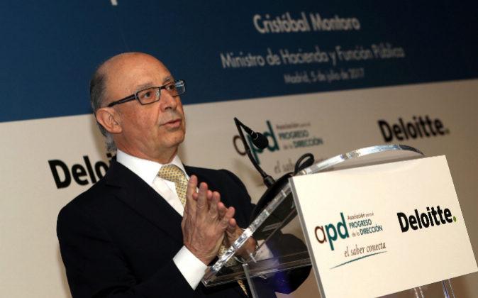 El ministro de Hacienda y Función Pública, Cristóbal Montoro.