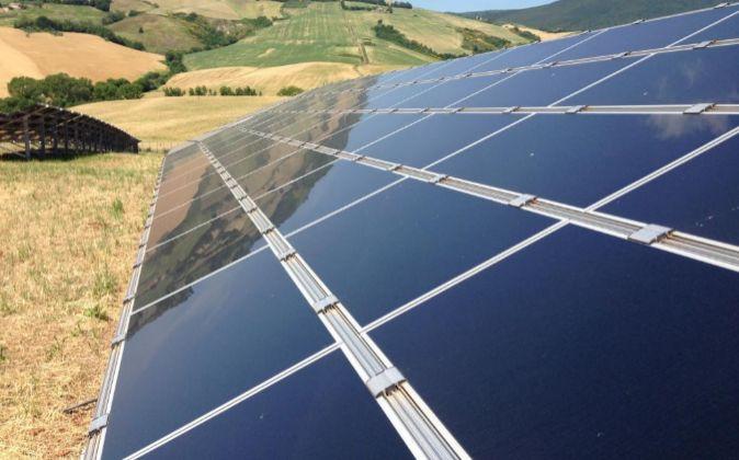 Imagen de la planta solar de Treia que Foresight gestiona en Italia.