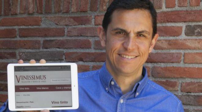 Toni Vicens, fundador y CEO del portal de venta de vino por Internet...
