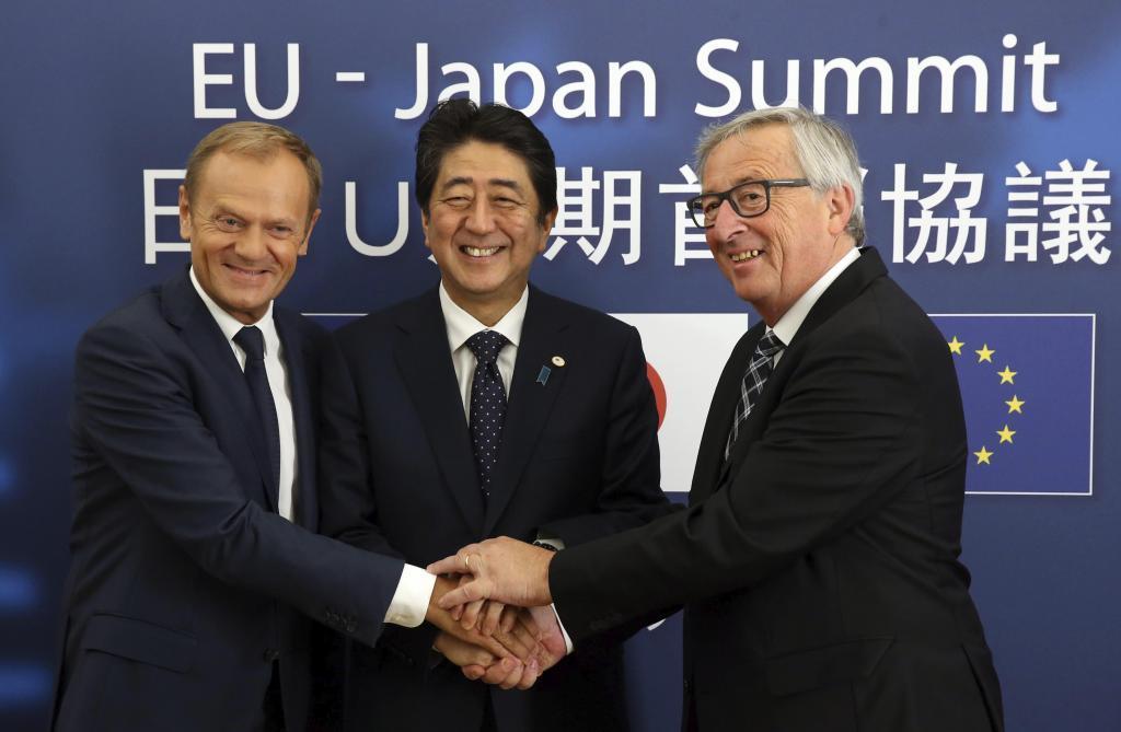 El presidente del Consejo Europeo, Donald Tusk, el primer ministro...