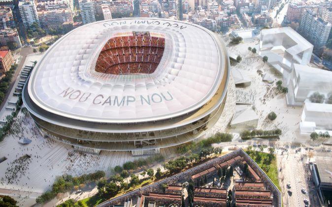 Maqueta del futuro Camp Nou