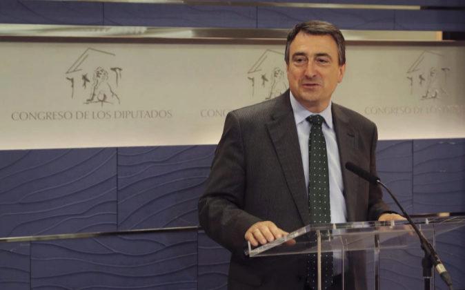 El portavoz del PNV en el Congreso, Aitor Esteban, el pasado mes de...