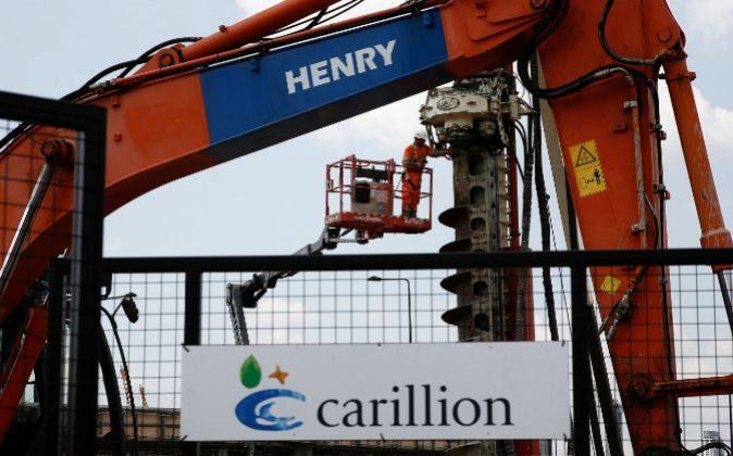 Obras del grupo británico de construcción y servicios Carillion en...
