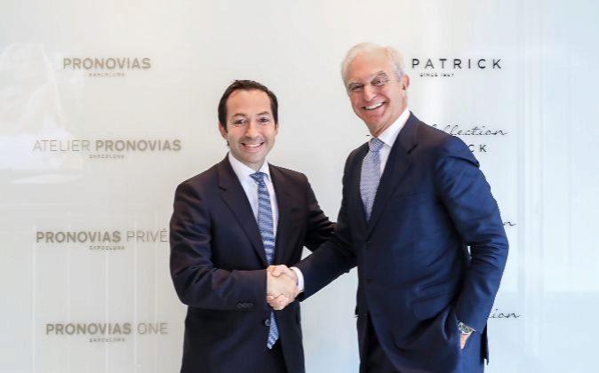 El socio director de BC Partners, Jean Baptiste Wautier, (izquierda)...