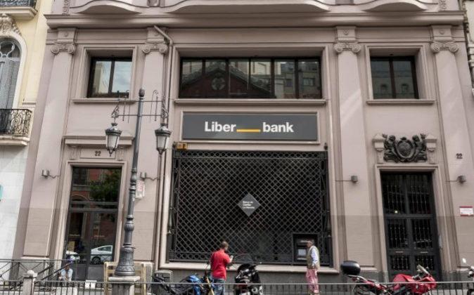 Sucursal bancaria de Liberbank en Madrid.