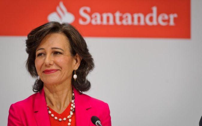 Ana Botín, presidente de Banco Santander.