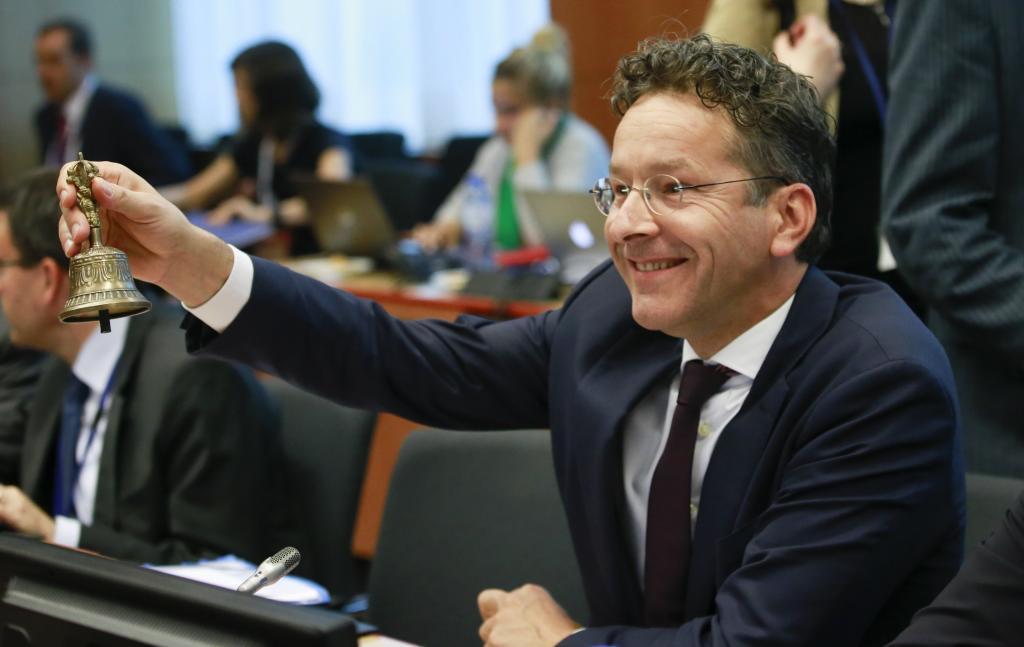 El presidente del Eurogrupo, Jeroen Dijsselbloem da inicio a la sesión del Eurogrupo celebrado en Bruselas.