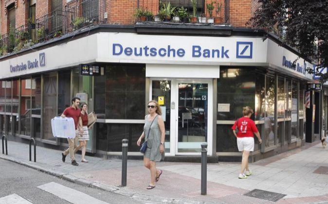 Oficina de Deutsche Bank en Madrid.