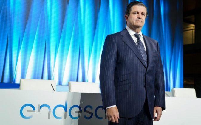 Borja Prado, en la junta de accionistas de Endesa, desde donde ha...