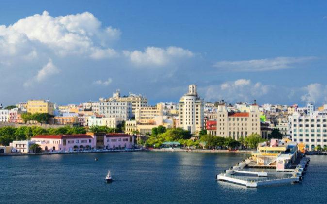 Vista de la ciudad de San Juan, capital de Puerto Rico.