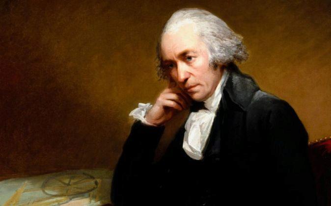 James Watt perfeccionó la máquina de vapor.