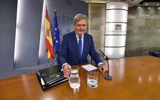 El portavoz del Gobierno, Íñigo Méndez de Vigo, hoy tras el Consejo...