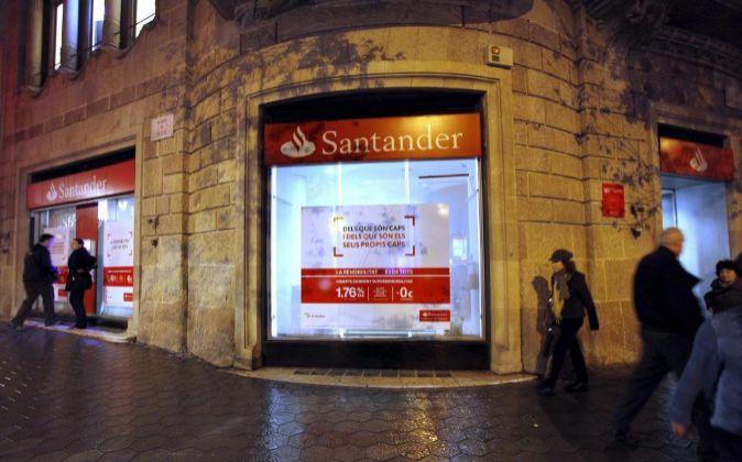 Oficina de Banco Santander en Barcelona.