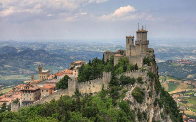 Castillo de Guaita en la ciudad de San Marino.