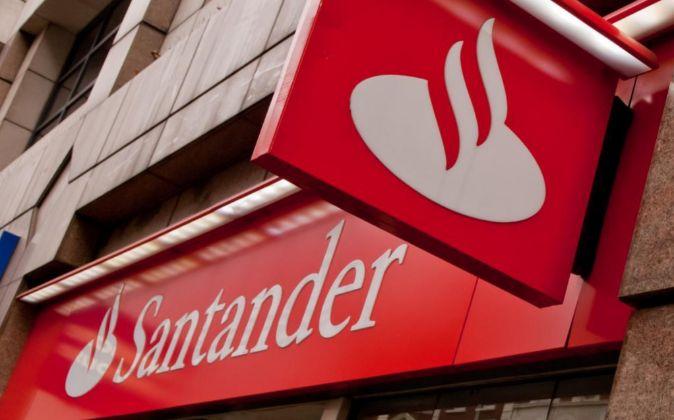 Logo de Banco Santander.