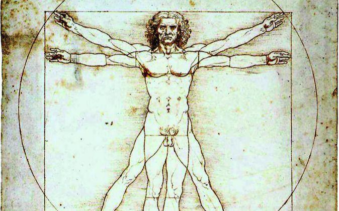 El hombre de Vitrubio de Leonardo Da Vinci.