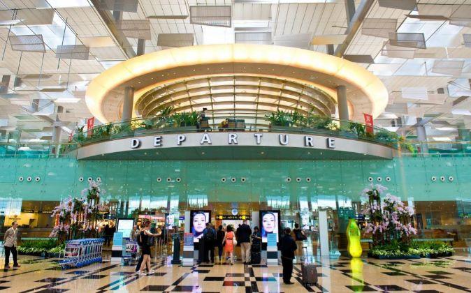 Aeropuerto de Changi, en Singapur.