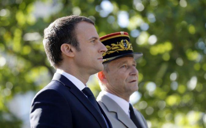 El jefe del Estado Mayor del Ejército, el general Pierre de Villiers,...