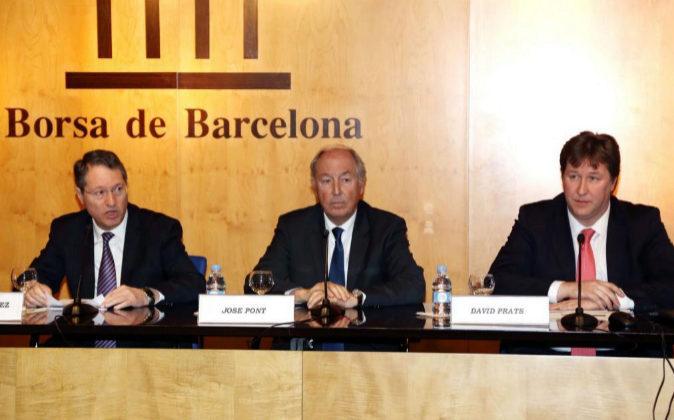 Imagen de archivo. José María Antunez, José Pont y David Prats.