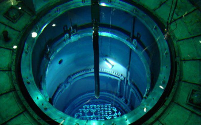 Interior de la central nuclear de Santa María de Garoña.