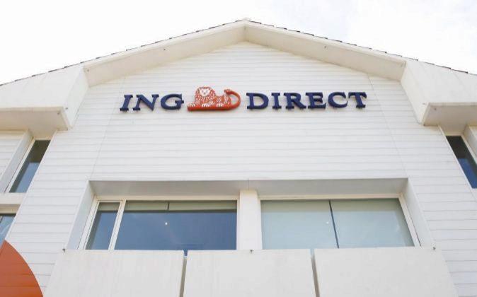 Sucursal de ING en Madrid.