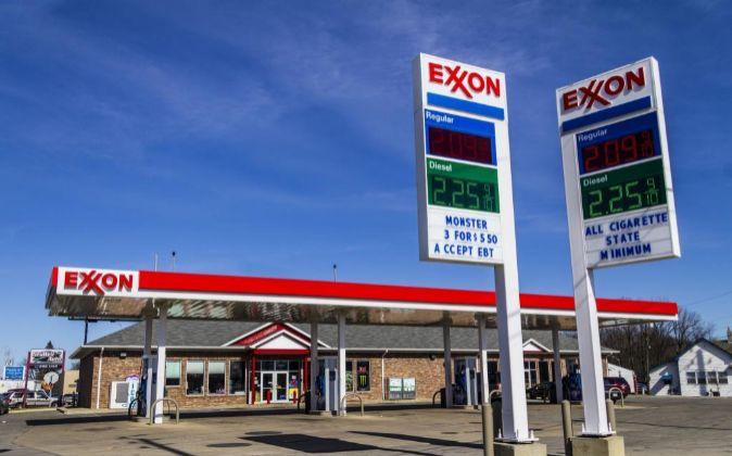 Gasolinera de Exxon en Indianápolis, Estados Unidos.