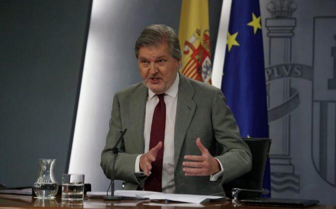El ministro de Educación, Cultura y Deporte y portavoz del Gobierno,...