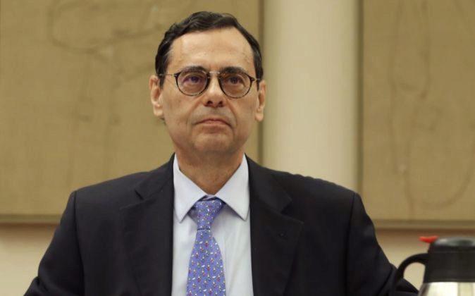 Jaime Caruana durante su comparecencia en la Comisión de...