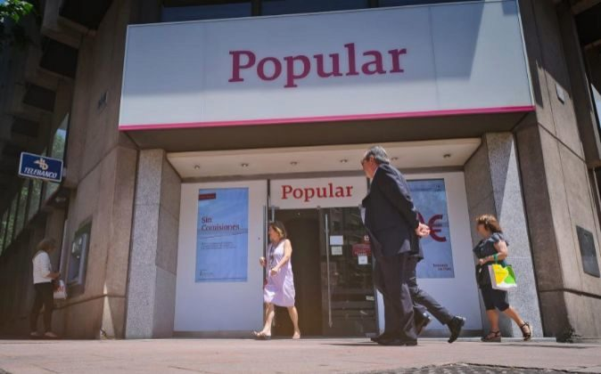 Oficina de Banco Popular en Madrid.